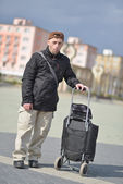 Man with luggage — Stock Photo