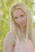 Ice blonde woman — Zdjęcie stockowe