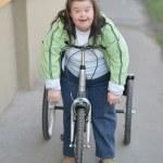 Woman ridding Trike — Stock Photo #44296591