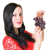 Sexy lady with grape. — Stock Photo