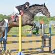 Show jumping rider — Stock Photo