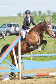 Cavalier de saut d'obstacles — Photo
