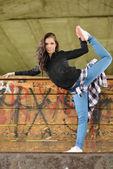 Girl dancer — Stock Photo
