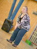 Mulher com síndrome de down — Fotografia Stock