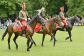 Hungarian hussar show — Stock Photo