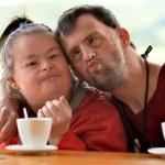 Down syndrome couple — Stock Photo #50206773