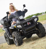 Sexy Girl on the ATV — Stock Photo