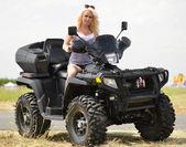 Sexy Girl on the ATV — Foto Stock