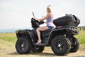 Sexy Girl on the ATV — Stock Photo