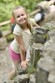 Climber girl — Stock Photo