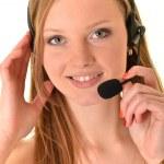 Woman operator — Stock Photo #9037038