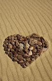 Corazón de piedra — Foto de Stock