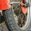 Wheel motorcycle — Stock Photo