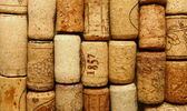 Many different wine corks — Stock Photo