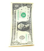 American dollar closeup on white background — Stock Photo