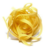 Italian pasta portion isolated on white background closeup — Stock Photo