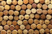 Background texture with different wine corks — Stock Photo