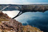 Bridge to the Pag island, Croatia — Stock Photo