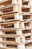Pile of beech pallets — Stock Photo