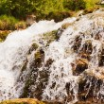 Close up of a waterfall, Krka national park, Croatia — Stock Photo #21743299