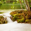Lake and small waterfall, Krka national park, Croatia — Stock Photo
