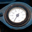 Old industrial pressure gauge - Stock Photo
