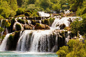 Cascade of waterfalls, Krka national park, Croatia — Stock Photo