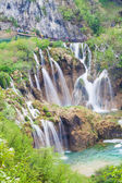 Waterfalls in Plitvice Lakes National Park, Croatia, view from a — Stock Photo