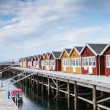 Stock Photo: Houses for boat servicing in Northern Norway