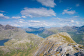 View from a peak in Northern Norway — Stock Photo