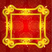 векторный дизайн восточный китайский новый год — Cтоковый вектор