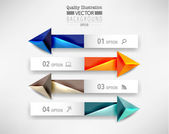 Projeto de infografia moderna seta — Wektor stockowy