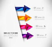 Diseño moderno flecha infografía — Vector de stock