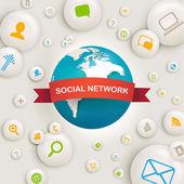 Social Network Computing Vector Design — Stock Vector