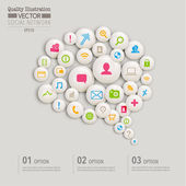 Social Network Computing Vector Design — Stockvektor