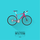 Vintage Bicycle Flat Vector — Stock Vector