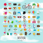 Lifestyle Flat Vector Icon Set — Stock Vector