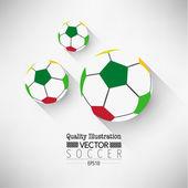 творческий футбол футбол спорт векторные иллюстрации — Cтоковый вектор