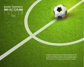 Ilustração em vetor esporte futebol futebol criativo — Vetor de Stock