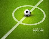 Creative Soccer Football Sport Vector Design — Vector de stock