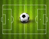 Creative Soccer Football Sport Vector Design — Stock Vector