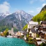 città di hallstatt alpina bella estate — Foto Stock