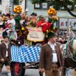 MUNICH, BAVARIA, GERMANY 2012 September 22 musicians dressed in national costumes take part into Oktoberfest solemn procession. Oktoberfest is annually beer festiva — Stock Photo #13295681