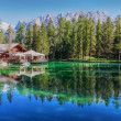 View of mountain lake Lago Ghedina — Stock Photo #13759885