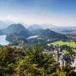 Alpsee valley Bavarialps, Fussen, Germany — Stock Photo #25195165