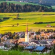 View of Dolomiti town Monguelfo Italy Europe — Stock Photo #31125289