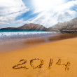 Sign of new year on sebeach — Stock Photo #31394367