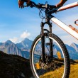 Navigate with GPS in the mountain — Stock Photo