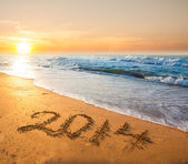 New year 2014 digits — Stock Photo