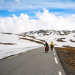 Two bikers in high mountains, Norway — Stock Photo